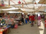 shopping for food and bargains in the fantastic Tuesday market