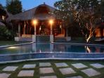 Villa Overview at evening