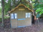 'Hectors House' children's playhouse in garden
