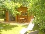 la Casanna, la chambre dans le chalet dans le jardin