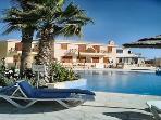 Relax around the swimming pool