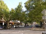 Kensington Village shops and cafes