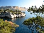 Calanques at the Mediterranean nearby
