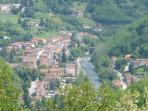 The view from the balcony on Bagni di Lucca's area.