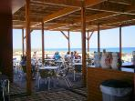 Cabana's beach bar and restaurant