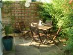 Access to the apartment is via its own private & and secluded garden (cats not included)