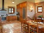 although rustic in character, all three apartments have kitchens with all the modern conveniences: d