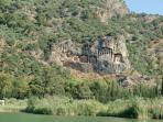 Rock tombs at Dalyan, 30minutes from Turkuaz Villa