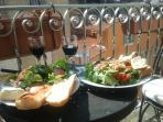 Enjoy lunch in the sunshine on the balcony