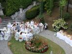 Celebrations in the beautiful gardens of Luca (available as an estate booking)