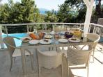 Alfresco dining with amazing views.