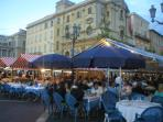 Outside dining is a way of life in Nice