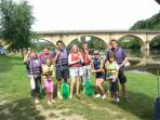 Dordogne canoeing for the family
