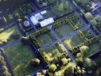 The Formal Gardens from the air - the Bothy is only just out of the picture!