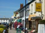 Instow village, with Johns, the award winning Cafe/Deli/Post office