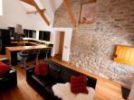 Original features work alongside the contemporary furniture