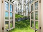 View from Bedroom - The Bothy looking out over private garden perfect for al fresco dining