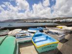 Local village fishing boats