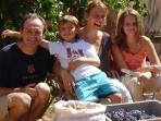Your hosts - Maggie, Martin, Ella and Joe Joe