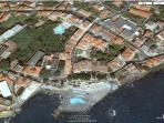 Ariel view of the villa from google earth