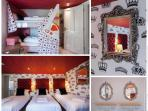 The Queen of Hearts bedroom with sea views (sleeps 5/6)