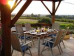 Alfresco dining on the south covered terrace
