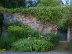 The other side of the gate. From the Formal Gardens into the Bothy garden