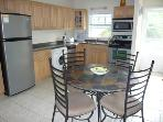 Large fully equipped kitchen and dining area