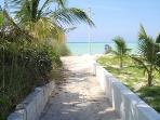 The sandy path to the stunning beach
