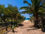 Exclusive access to the Zahora Beach down a footpath, 50m