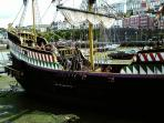 Replica of the Golden Hind in Brixham