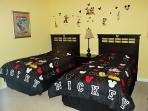 Great Disney Twin Bedroom for our younger guests