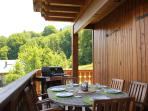 Summer dining on the balcony with amazing views