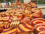 Sabinillas market.  Bargain hunters delight.  Open twice a week.  5 mins away