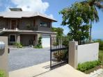 entry , large private parking , with auto gate remote control