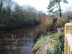 VIEW OF THE RIVER ESK  FROM THE BALCONY.  ENJOY THE WILD LIFE THAT FREQUENTS THE RIVER BANK