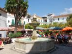 The beautiful Old Town in Marbella is just ten minutes from us