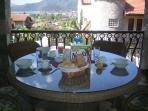 Having Breakfast Overlooking Gocek Bay