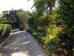 Long sweeping private gated driveway to Vila Margarida.