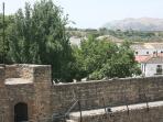 breakfast views from the terrace of moorish walls