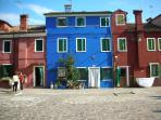 Nearby Burano with its colourful houses on the water