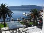 Kuca Mila's enviable view from the balcony across the Bay of Kotor