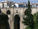 Views of the new bridge Ronda