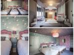 The Flamingo Dreams bedroom with sea views (sleeps 5/6)