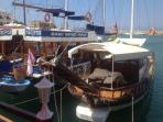 There are lots of boat trip operators operating from Kyrenia Harbour -15 mins away