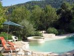 Swimming pool terrace... it is so quiet and has an excellent range of pool furniture and a pergola