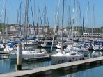 Marina and restaurants local at Portimo