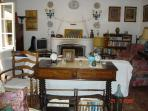 Straight on view of the sitting room