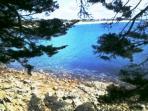 La plage du Fogeo à 5 minutes à pied