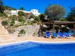 Villa as seen from pool terrace